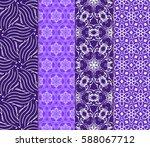 seamless patterns set. vintage... | Shutterstock .eps vector #588067712