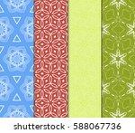 set of geometric seamless... | Shutterstock .eps vector #588067736