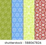 set of modern floral pattern of ... | Shutterstock .eps vector #588067826