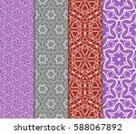 set of modern floral pattern of ... | Shutterstock .eps vector #588067892