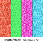 set of modern floral pattern of ... | Shutterstock .eps vector #588068672