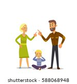 a little boy crying  cursing... | Shutterstock .eps vector #588068948