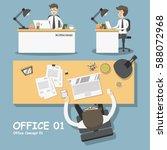 businessman sitting at office... | Shutterstock .eps vector #588072968