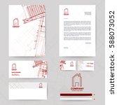corporate identity template... | Shutterstock .eps vector #588073052