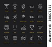vector line icons of american...   Shutterstock .eps vector #588075986
