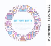 event agency  birthday party... | Shutterstock .eps vector #588076112