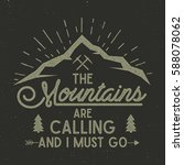 mountains are calling vector... | Shutterstock .eps vector #588078062