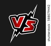 versus letters. vs logo. | Shutterstock .eps vector #588079442