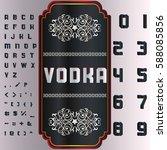 font script typeface vodka... | Shutterstock .eps vector #588085856
