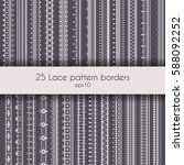 set of 25 seamless lace pattern ... | Shutterstock .eps vector #588092252
