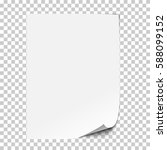 vector realistic paper sheet... | Shutterstock .eps vector #588099152