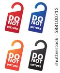 hotel door tag   do not disturb | Shutterstock .eps vector #588100712
