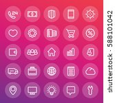 icons for web design in line... | Shutterstock .eps vector #588101042