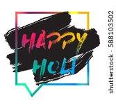 ndian festival of colours... | Shutterstock .eps vector #588103502