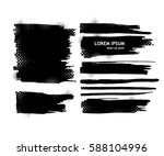 set of blots. vector | Shutterstock .eps vector #588104996