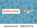 "airplane with banner ""employer"" ... 