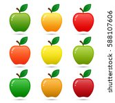 apple icon set isolated on... | Shutterstock .eps vector #588107606