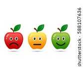 feedback apple emoticon flat... | Shutterstock .eps vector #588107636
