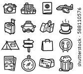 Travel Objects  Icons Set  ...