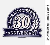 30 years anniversary logo...   Shutterstock .eps vector #588111845