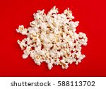 popcorn in red and white... | Shutterstock . vector #588113702