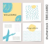 template  banners. vector brush ... | Shutterstock .eps vector #588116882