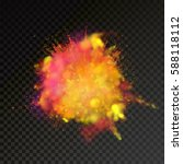 paint powder explosion on... | Shutterstock .eps vector #588118112