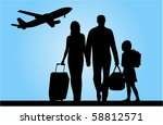 traveling family | Shutterstock .eps vector #58812571