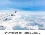 Aerial View Of Cloud  Blue Sky...