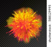 paint powder explosion on... | Shutterstock .eps vector #588129995