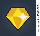 diamond vector illustraion | Shutterstock .eps vector #588133076