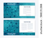 templates for square brochure.... | Shutterstock .eps vector #588151388