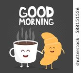 good morning vector... | Shutterstock .eps vector #588151526