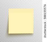 yellow sticky note isolated on... | Shutterstock .eps vector #588155576