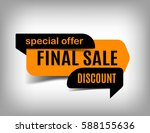 final sale banner  discount tag ... | Shutterstock .eps vector #588155636