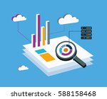 analysis big data isometric | Shutterstock .eps vector #588158468