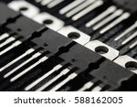 macro shot of power transistors ... | Shutterstock . vector #588162005