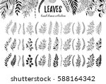 hand drawn branches collection. ... | Shutterstock .eps vector #588164342