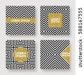 set of abstract vector design ... | Shutterstock .eps vector #588167555