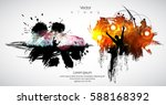 silhouette of dancing people | Shutterstock .eps vector #588168392