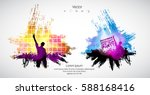silhouette of dancing people | Shutterstock .eps vector #588168416
