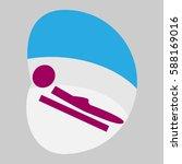 toboggan  sport  icon  logo ...   Shutterstock .eps vector #588169016