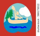 kayaking  sport  icon  logo ...   Shutterstock .eps vector #588173012