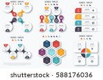 set with infographics. data and ...   Shutterstock .eps vector #588176036