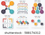 set with infographics. data and ... | Shutterstock .eps vector #588176312