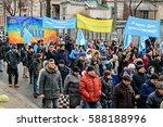 kyiv  ukraine   february 26 ... | Shutterstock . vector #588188996