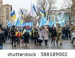 kyiv  ukraine   february 26 ... | Shutterstock . vector #588189002