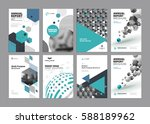set of modern business paper... | Shutterstock .eps vector #588189962