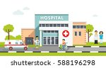 medical concept with hospital... | Shutterstock .eps vector #588196298