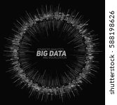 vector abstract round big data... | Shutterstock .eps vector #588198626
